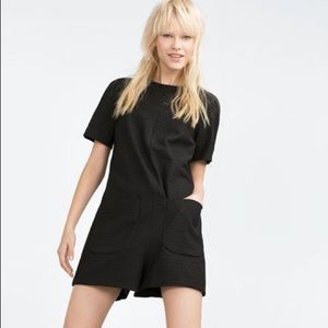 Zara trafaluc short sleeve playsuit